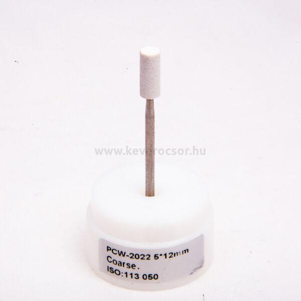Kerámiás kő fehér, 12 db, HP, kemény, 5x12mm, henger alakú, ISO:113 050, 15-30 000 rpm