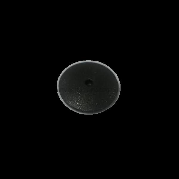 Gumi polírozó mandrel nélkül, lencse forma, Extra-durva, fekete, 10 db