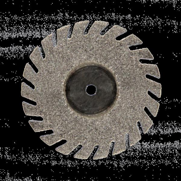 Szeparáló korong, gyémánt, flexibilis, mandrel nélkül, fogazott, 0,25x22 mm