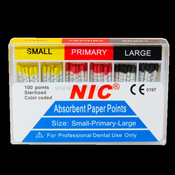 PAPÍR CSÚCS - W-file (Waveone) 100 db-os, steril, színjelzett, S-P-L