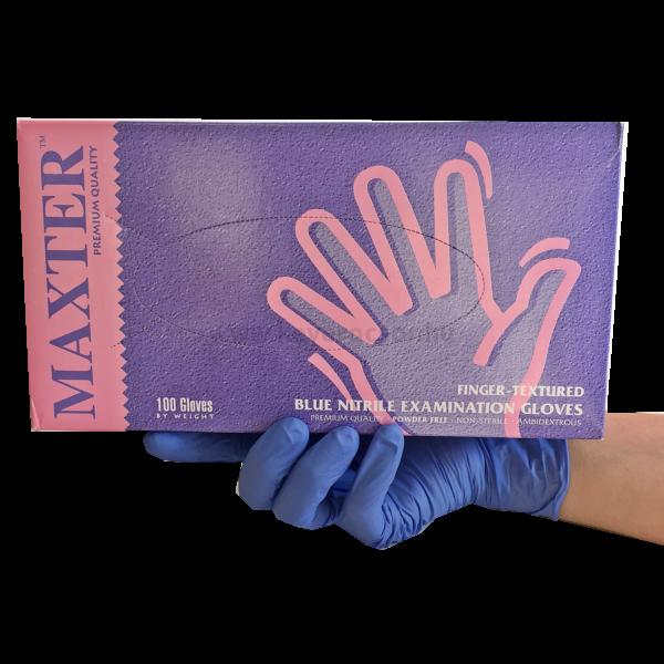 NITRIL Kesztyű érzékeny bőrűek számára, latex- és púdermentes, kék, 100 db - többféle választható méretben