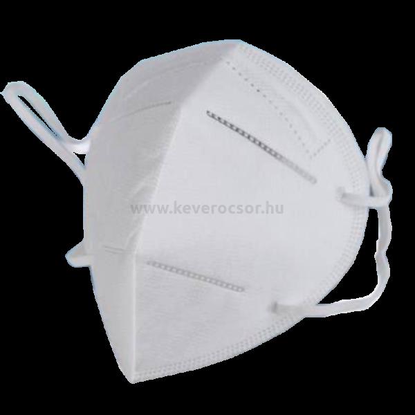 FFP2 arcmaszk, BRBEN 5 rétegű, gumis, belső orrmerevítővel, egyesével csomagolva, fehér, 1 db