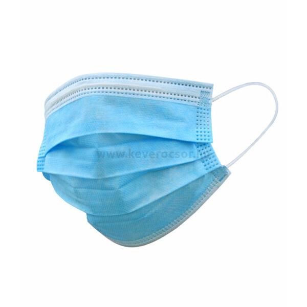 Sebészi maszk, MEDICOV gumis 3 rétegű, kék - 50db