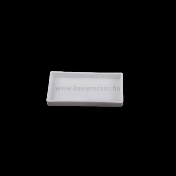 Fogászati Tálca, műanyag, osztatlan, autoklávozható, fehér, 20x10x2,5 cm, 1 db