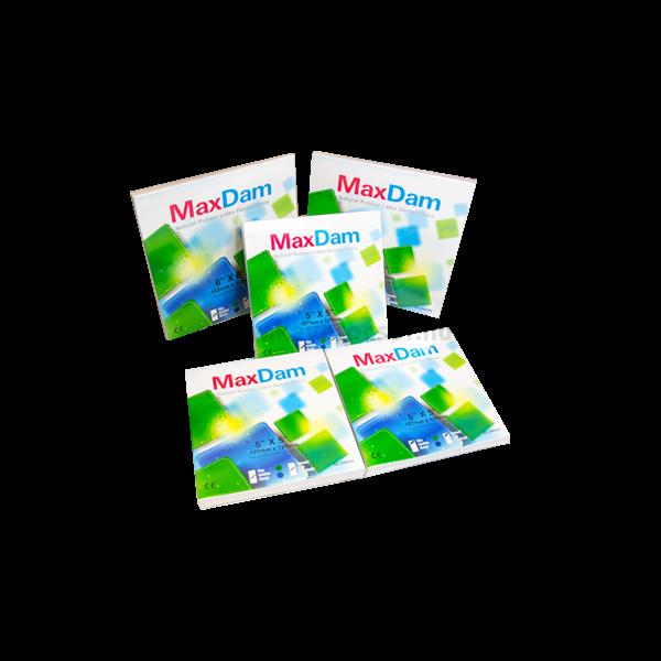 Kofferdam gumi,  közepes vastagság, több méretben és tipusban (zöld, mentolos, 52 db, 5'x5')