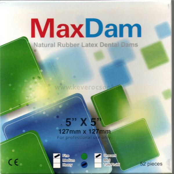 Kofferdam gumi, 52 db, kék, 127 x 127 mm, vékony, semleges illatú, alacsony púderezettségű