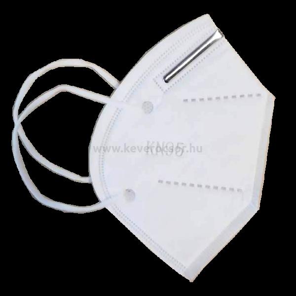 KN95-ös (FFP2) arcmaszk, 1 db, fehér, gumis