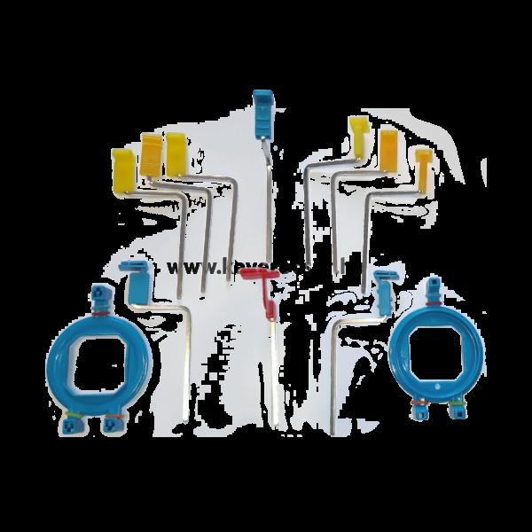 Rtg. film vagy lemez pozícionáló készlet, 4 az egyben ( 2 keret és 10 tartó)
