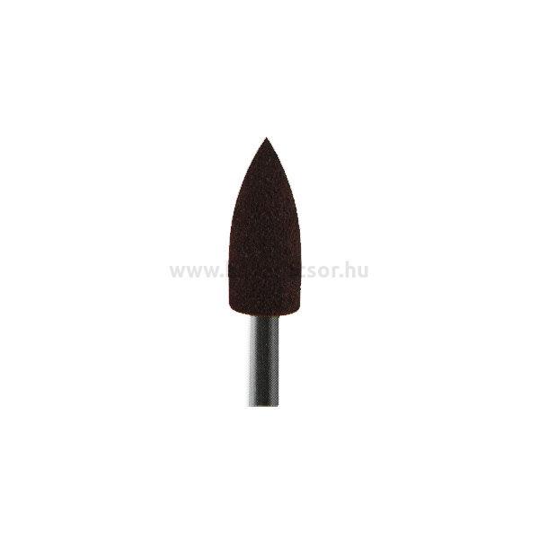 Szilikon polírozó, nyílhegy forma, barna, Extra-durva, 1 db