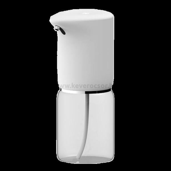 Szenzoros folyékony szappan és fertőtlenítőszer adagoló, asztali, beépített akkumulátorral, 400ml