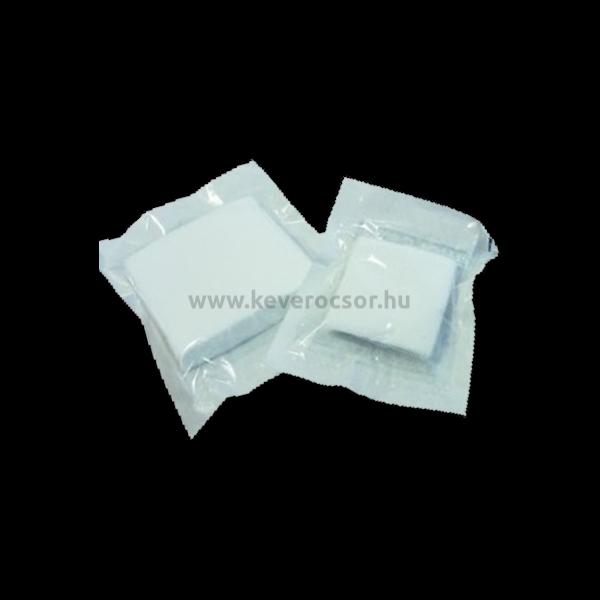Hajtogatott mull-lap, steril, 10 db/csomag, 10x10 cm