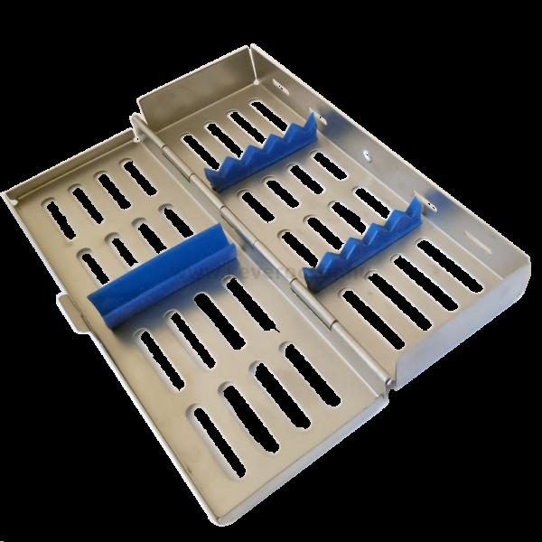Sterilizáló fém kazetta, 5 műszernek, 17x188x70 mm