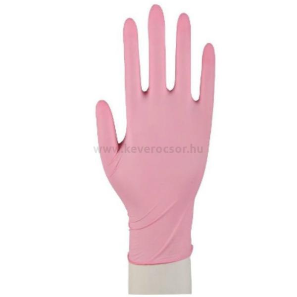 NITRIL Rózsaszín Kesztyű érzékeny bőrűek számára, latex- és púdermentes, kék, 100 db - többféle választható méretben