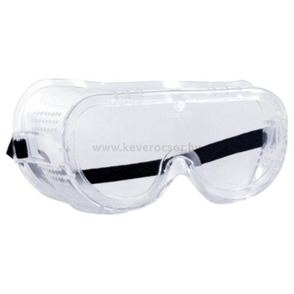 MONOLUX transzparens védőszemüveg, gumis rögzítés, oldalvédelemmel, 1 db