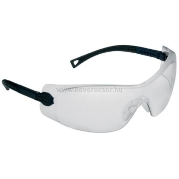 VERILUX védőszemüveg fekete szárral, 1 db, műanyag