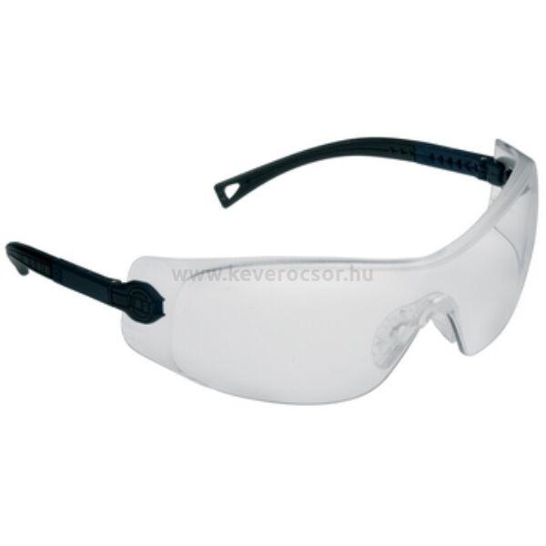 PARALUX transzparens védőszemüveg, kék-fekete szárral, műanyag, 1 db