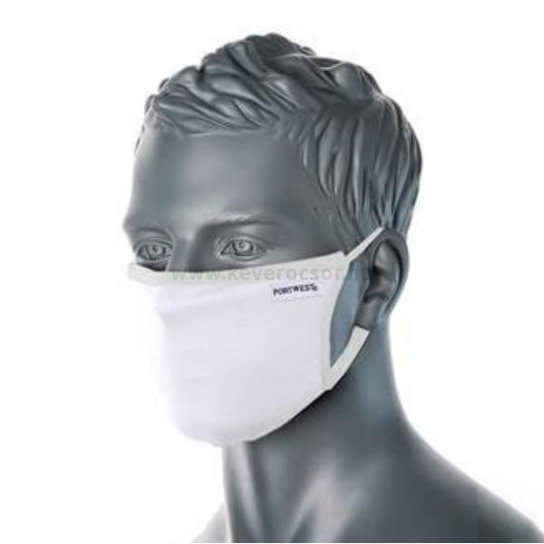 5 db mosható arcmaszk, gumis, fehér