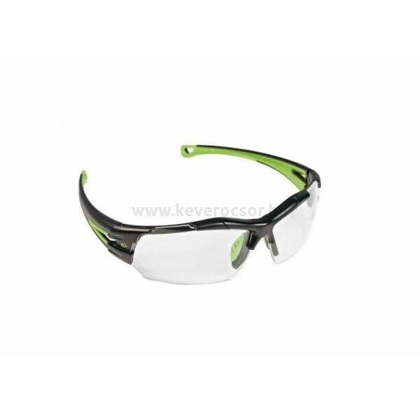 SEIGY víztiszta szemüveg fekete-zöld végződéssel, textil tokkal
