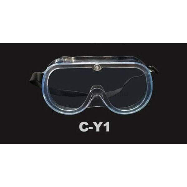 COXO védőszemüveg simítózáras tasakban, transzparens, gumis rögzítés, 1 db