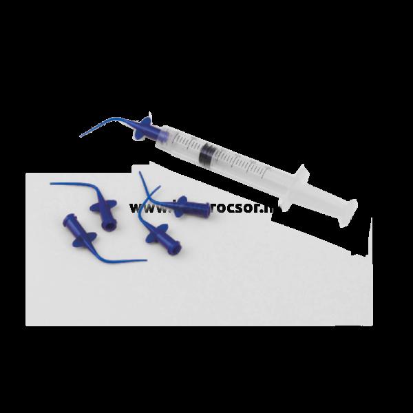 Ez-Flow endodonciás elasztikus kanül, mikro applikátor, 10db, kék