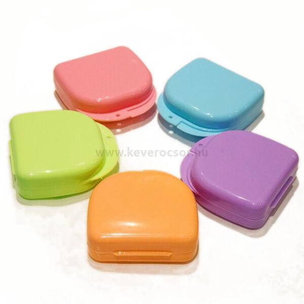 Műanyag dobozok, kerek, kicsi, 1 db, - többféle választható színben