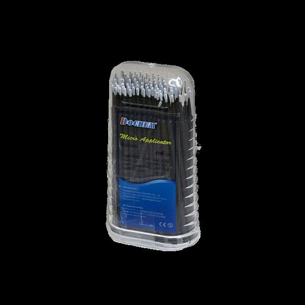 Applicator in box, long, 100 pcs, fblack